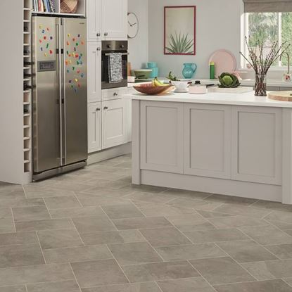 Picture of Karndean Knight Tile  Grey Riven Slate ST16