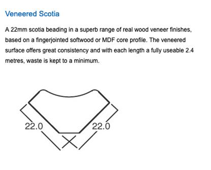 Picture of Veneered Scotia Oak  2.5m