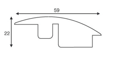 Picture of Solid Oak Semi Ramp 900mm
