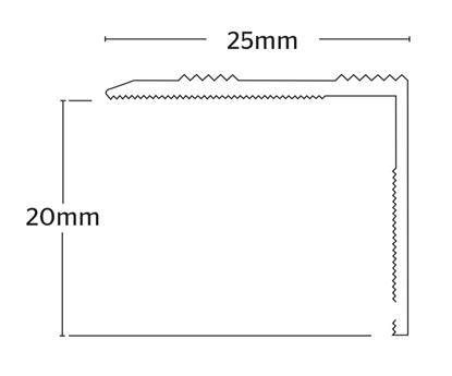 Nosing 20mm S/A - Matt Gold   .90m